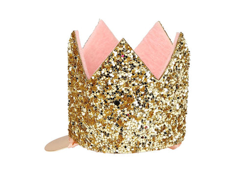 Merimeri Party - Mini Glittered Crown Hair Clip