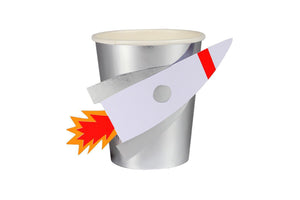 Merimeri Party To The Moon Rocket Cups