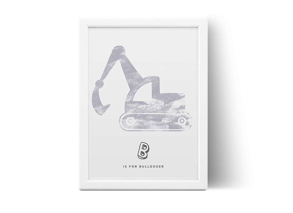 Poster - B is for Bulldozer
