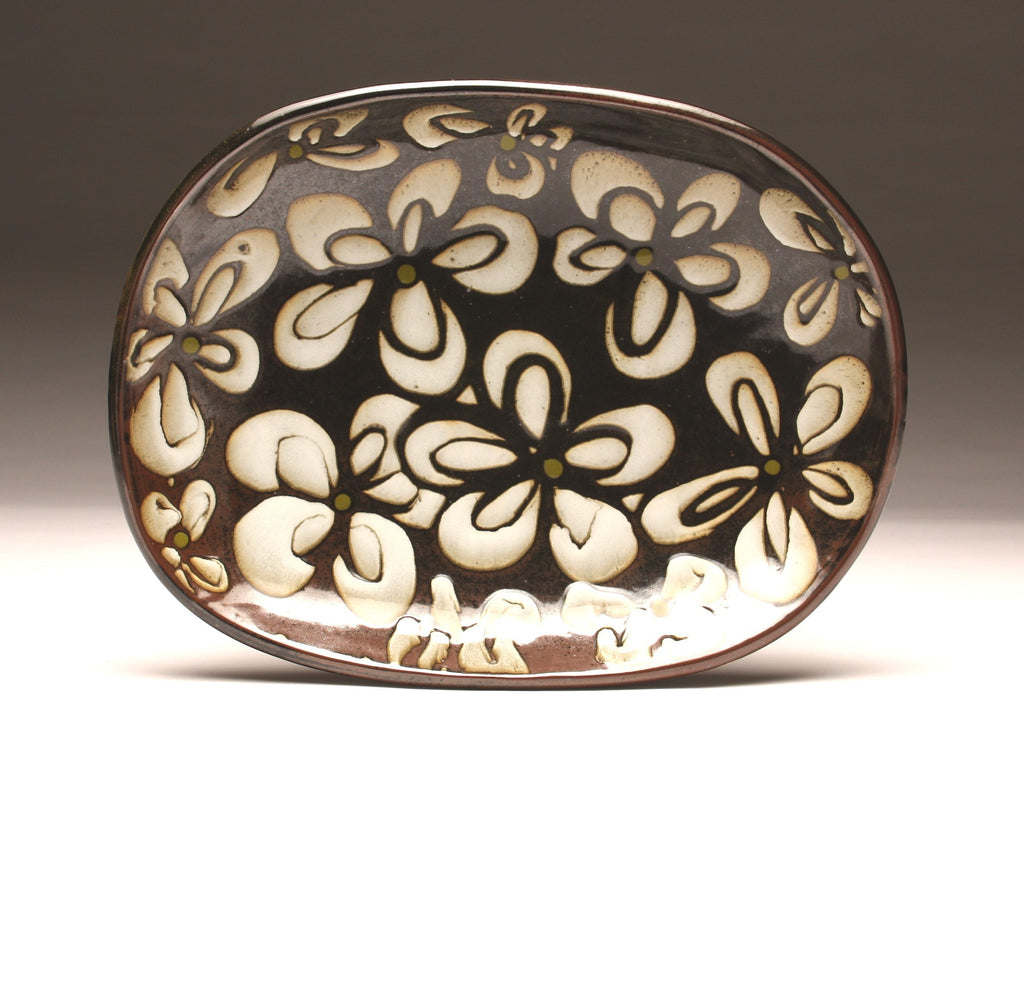 DH001 Extra Large Oval Flower Platter