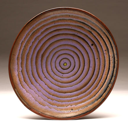"DH011 Extra Large 18"" Platter Tenmoku and Purple ""Eye"""
