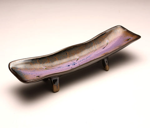 DH024 Relish Tray in Black, Purple, and Chartreuse