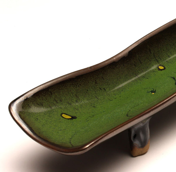 DH025 Relish Tray in Green, Chartreuse, and Black