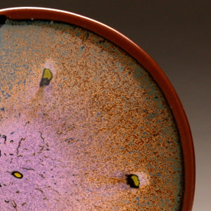 "DH032 8"" Purple Spotted Platter"