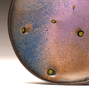 "DH033 11""  Purple Spotted Platter"