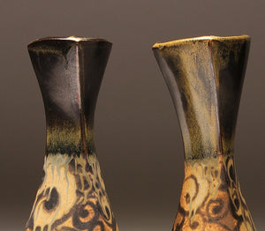 DH046 Pair of Spiral Tattoo Vases