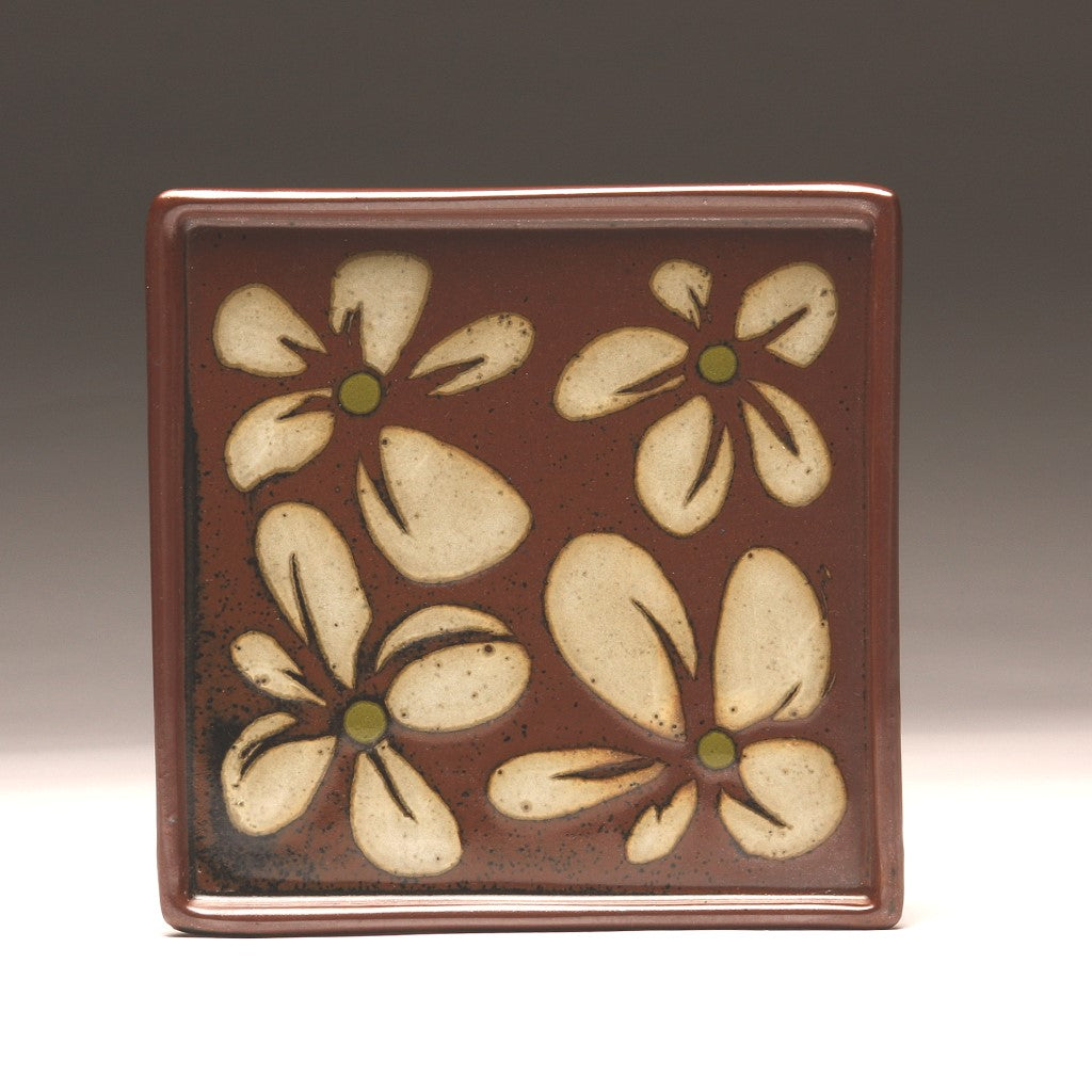 DH 051 Square Flower Plate