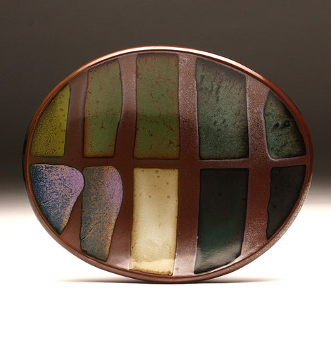DH075 Medium Multi-Colored Oval Platter