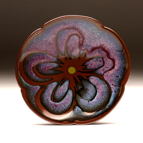 DH096 Copper Red and Tenmoku Flower