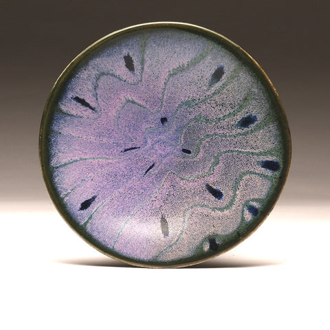 "DH038 8"" Purple and Teal Waves Platter"