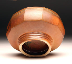 GH002 Large Cut-Sided Bowl with Ten Facets