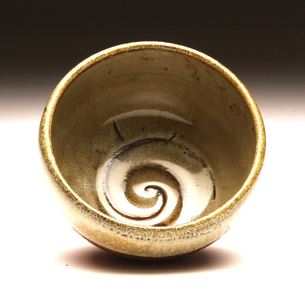 GH034 Small Wood Fired Bowl Chattered Texture
