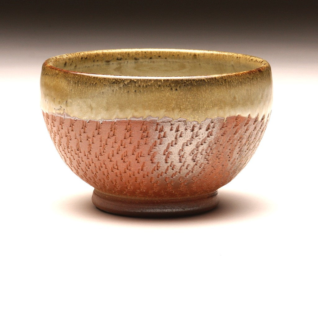GH038 Small Wood Fired Bowl Chattered Texture