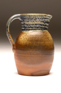 GH055 half-gallon pitcher woodfired blue and ash
