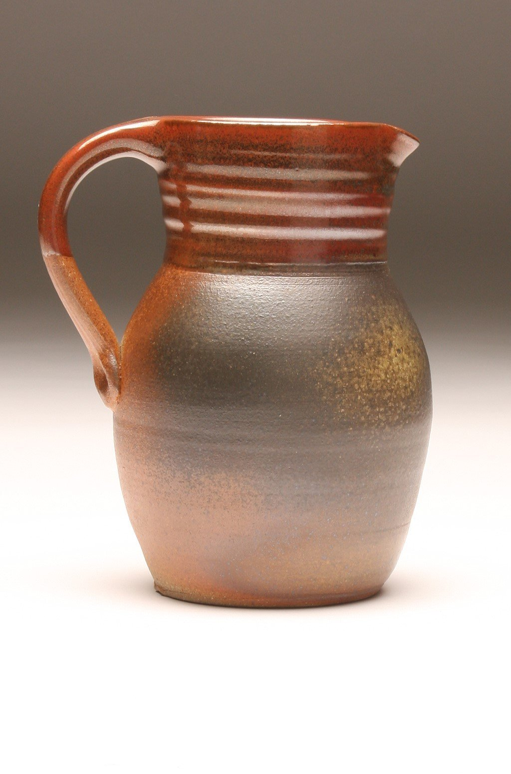 GH056 half-gallon pitcher woodfired persimon and ash