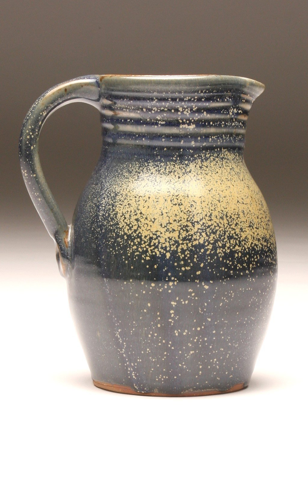 GH057 half-gallon pitcher woodfired blue