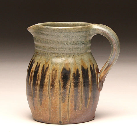 GH211 quart pitcher woodfired teal and ash