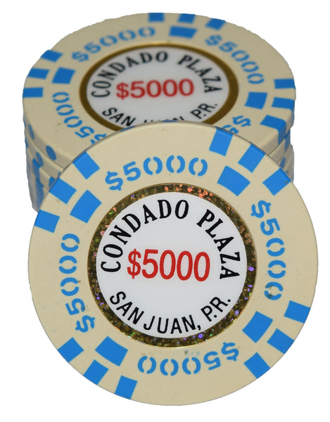 Condado Plaza $5000 - Beige / Blue - 20 pieces OVERSIZED 43mm