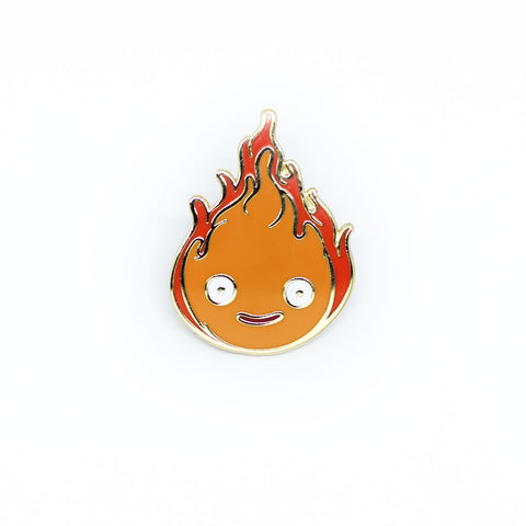 Calcifer enamel pin
