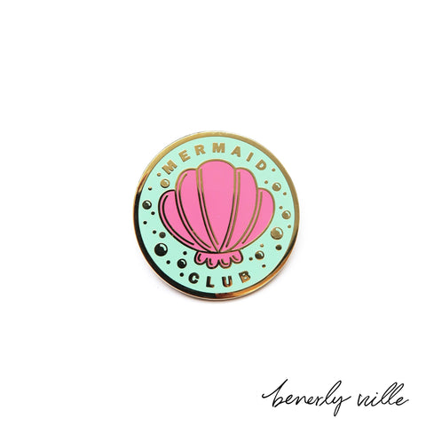 Mermaid Club pin