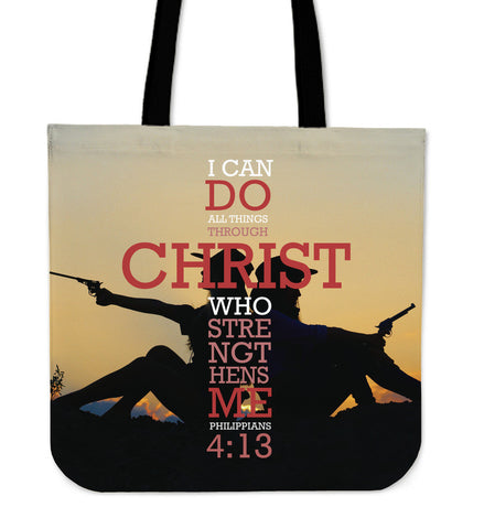 Philippians Country Girls with Pistols Cloth Tote Bag