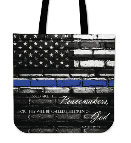 Matthew Thin Blue Line Tote Bag