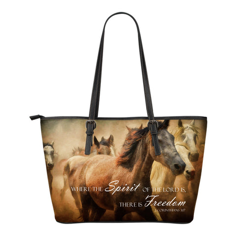 Corinthians Horse Leather Tote Bag (Small)