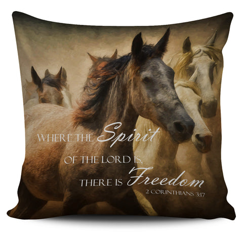 Bible Verse Horse Pillow Covers