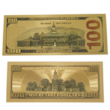 Gold Plated 2 Piece 100 Dollar Bill Benjamin Set