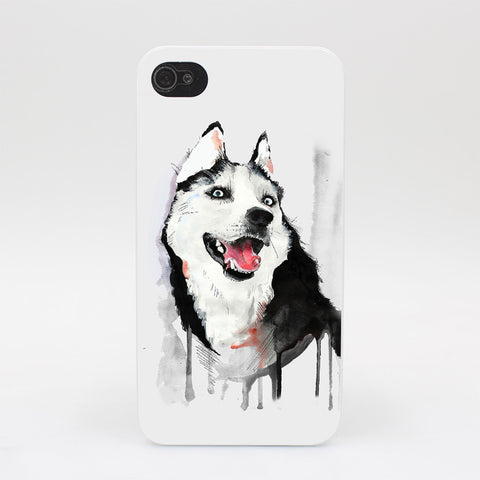 Watercolor Husky iPhone Case