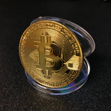 Free Gold Plated Collectible Bitcoin Coin
