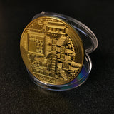 Gold Plated Collectible Bitcoin Coin