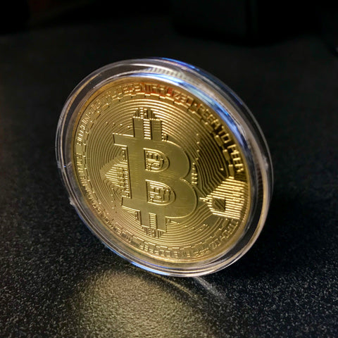 Free Gold Plated Collectible Bitcoin Coin – tribefinds