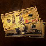 FREE Gold Plated 2 Piece 100 Dollar Bill Benjamin Set