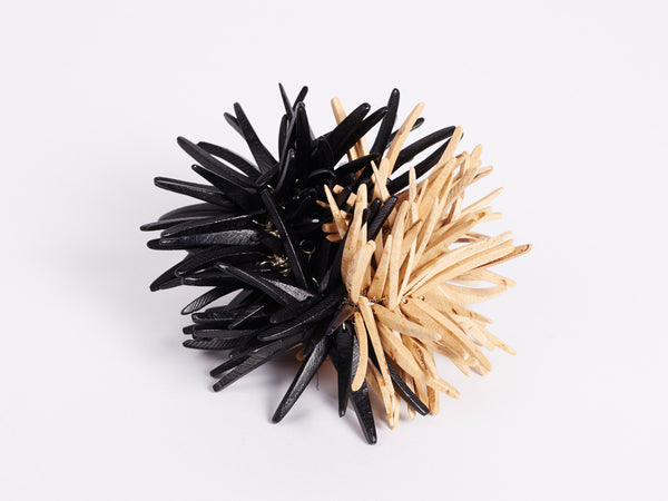 urchin wrist piece - black | natural