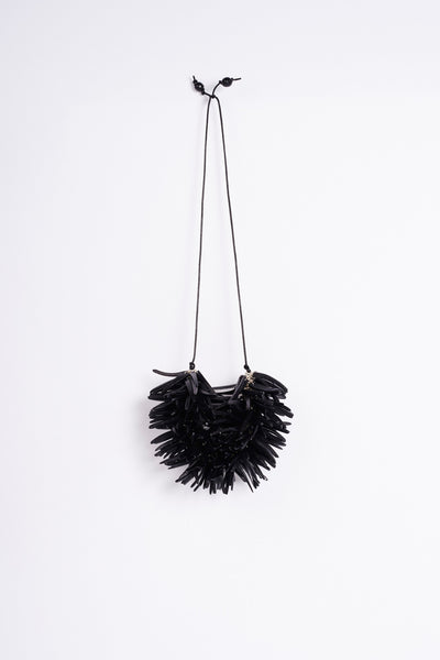 urchin neck piece - black