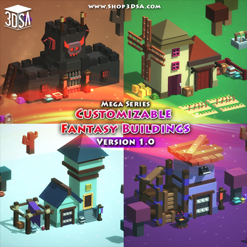 New Asset! Customizable Fantasy Buildings Pack