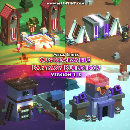 New FREE content update! Customizable Fantasy Buildings Pack