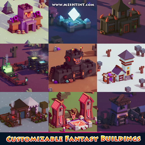 Customizable Fantasy Buildings updated