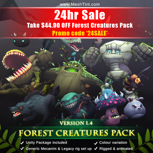SALE: $44.90 OFF Forest Creatures Pack for 24hr only