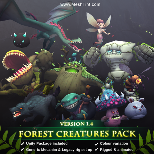 Forest Creatures Pack updated!