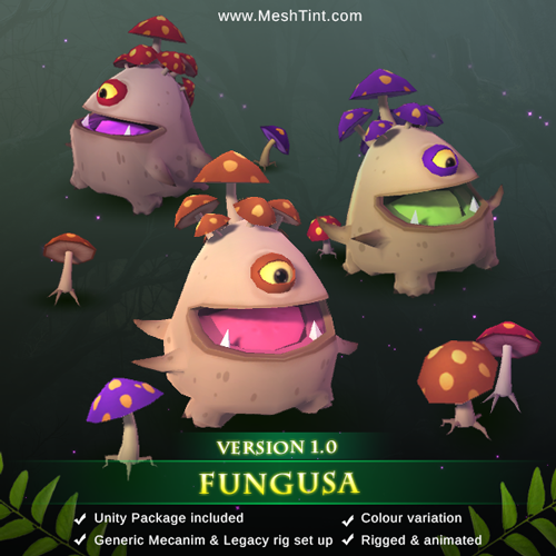 New Fantasy Series Monster: Fungasa and her minions