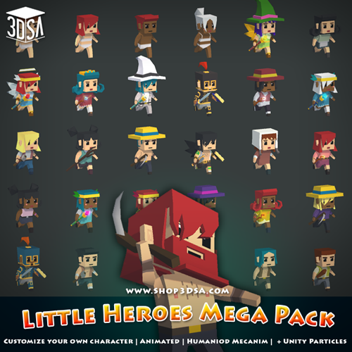 Customize your character! Little Heroes Mega Pack