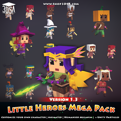 Update: Little Heroes Mega Pack version 1.3