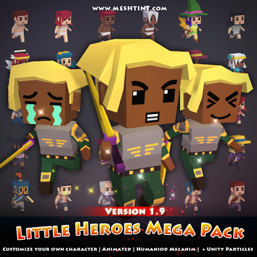 Little Heroes Mega Pack updated! Customizable face!