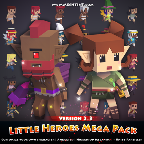 See what's new in Little Heroes Mega Pack v2.3