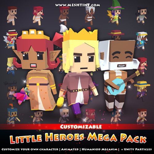 Tutorial: How to change character's face in Little Heroes Mega Pack