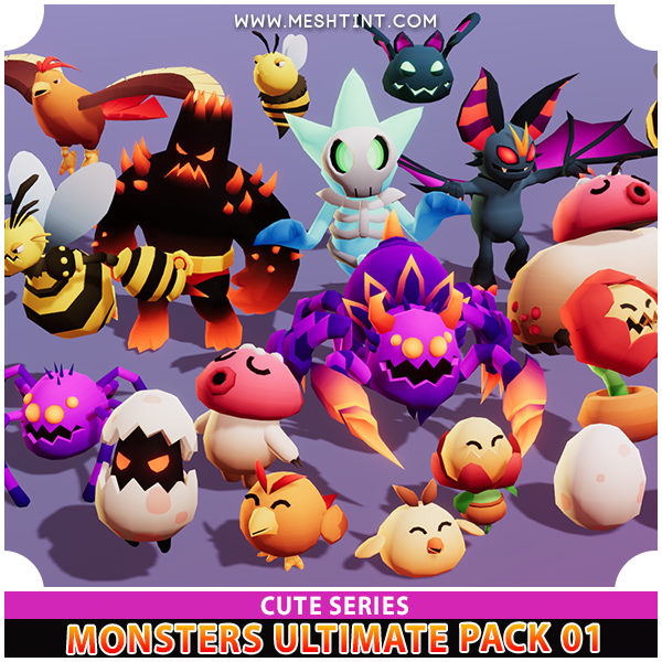 25 monsters in 1 pack
