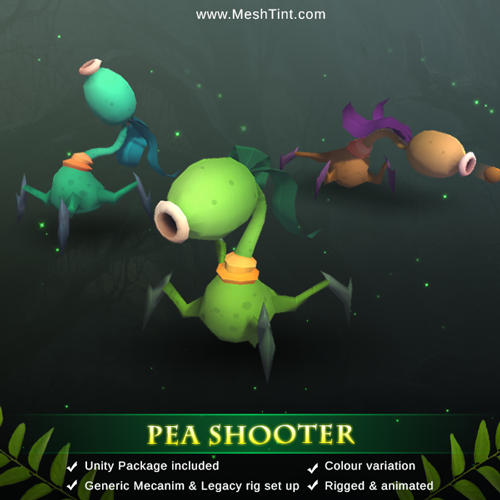 How to add root motion to Generic set up Pea Shooter in Unity?