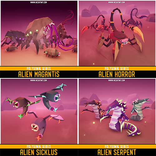 Alien creatures for your game!